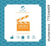 clapperboard symbol icon | Shutterstock .eps vector #775146409