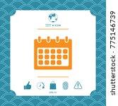 calendar symbol icon | Shutterstock .eps vector #775146739