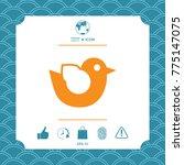 bird symbol icon | Shutterstock .eps vector #775147075