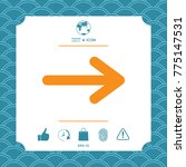 arrow icon symbol | Shutterstock .eps vector #775147531