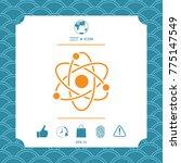 atom symbol   science icon | Shutterstock .eps vector #775147549