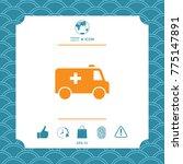 ambulance symbol icon | Shutterstock .eps vector #775147891