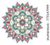 ethnic ornamental mandala.... | Shutterstock .eps vector #775147999