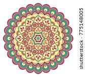 ethnic ornamental mandala.... | Shutterstock .eps vector #775148005
