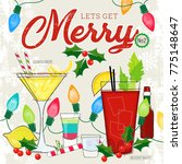 fun holiday cocktails bloody... | Shutterstock .eps vector #775148647
