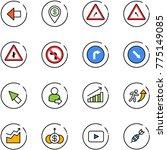line vector icon set   left... | Shutterstock .eps vector #775149085
