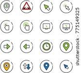 line vector icon set   dollar... | Shutterstock .eps vector #775149325