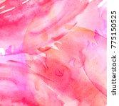Stock photo watercolor pink background watercolor abstract spot splash of paint blot divorce color 775150525