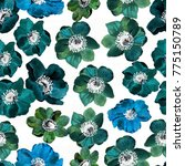 floral seamless pattern with... | Shutterstock . vector #775150789