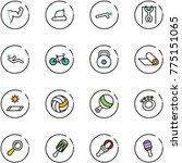 line vector icon set   power... | Shutterstock .eps vector #775151065