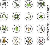 line vector icon set   gear... | Shutterstock .eps vector #775151095