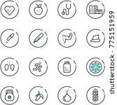 line vector icon set   heart... | Shutterstock .eps vector #775151959