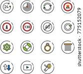 line vector icon set   24 hours ... | Shutterstock .eps vector #775152079