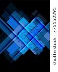 color arrows on black... | Shutterstock .eps vector #775152295