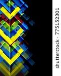 color arrows on black... | Shutterstock .eps vector #775152301