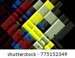 color arrows on black... | Shutterstock .eps vector #775152349