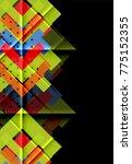 color arrows on black... | Shutterstock .eps vector #775152355