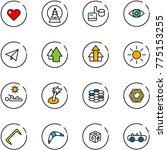 line vector icon set   heart... | Shutterstock .eps vector #775153255