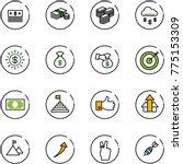 line vector icon set   dollar... | Shutterstock .eps vector #775153309