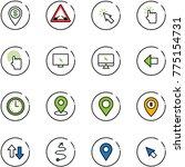 line vector icon set   dollar... | Shutterstock .eps vector #775154731