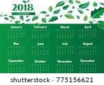 calendar 2018 background with... | Shutterstock .eps vector #775156621
