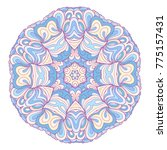 vector ethnic colorful... | Shutterstock .eps vector #775157431