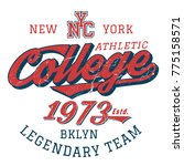 nyc legendary college team  ...   Shutterstock .eps vector #775158571