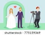 wedding people with... | Shutterstock . vector #775159369