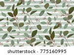 seamless pattern with... | Shutterstock .eps vector #775160995