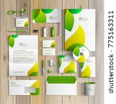 floral corporate identity...   Shutterstock .eps vector #775163311
