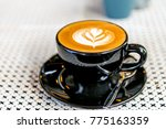 coffee late soft focus | Shutterstock . vector #775163359