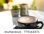coffee late soft focus in the... | Shutterstock . vector #775163371