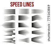 speed lines black for manga and ... | Shutterstock .eps vector #775163869