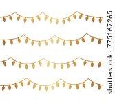 gold christmas light seamless... | Shutterstock .eps vector #775167265