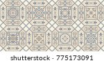 vintage seamless pattern in... | Shutterstock .eps vector #775173091