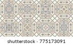 vintage seamless pattern in... | Shutterstock .eps vector #775173091