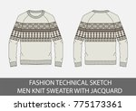 fashion technical sketch men... | Shutterstock .eps vector #775173361