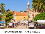 hvar  croatia   july 10  2011 ... | Shutterstock . vector #775175617