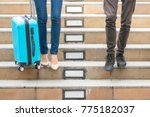 close up of woman carrying... | Shutterstock . vector #775182037