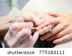 manicure in process | Shutterstock . vector #775183111