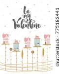 romantic postcard with... | Shutterstock .eps vector #775183441