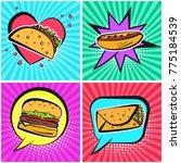 bright retro comic speech... | Shutterstock .eps vector #775184539