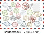 composition with collection of... | Shutterstock . vector #775184704