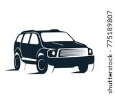 silhouette of car  illustration. | Shutterstock . vector #775189807
