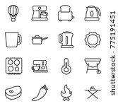 thin line icon set   air ballon ... | Shutterstock .eps vector #775191451