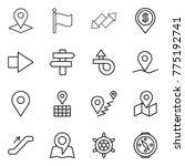 thin line icon set   pointer ... | Shutterstock .eps vector #775192741