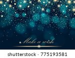 vector gold glitter particles... | Shutterstock . vector #775193581