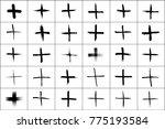 plus symbols big collection. 30 ... | Shutterstock . vector #775193584