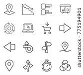 thin line icon set   pointer ... | Shutterstock .eps vector #775194901