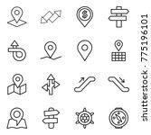thin line icon set   pointer ... | Shutterstock .eps vector #775196101